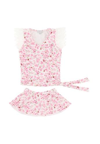 Viva Vida Kids pink Swimwear 2Pc Lace Cherry Blossom AA803KA438C206GS_1