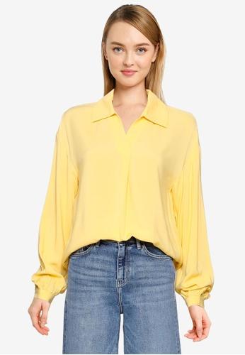 Vero Moda yellow Felicity Long Sleeve Top A73E8AA812869FGS_1