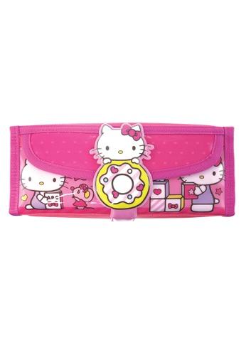 Hello Kitty pink Hello Kitty Donuts Square Pencil Bag With Pocket E78E3KCA87F60BGS_1