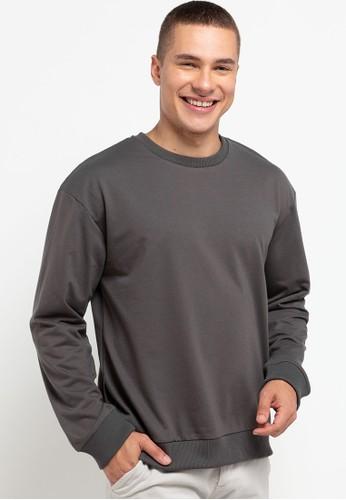 Tolliver grey Basic Sweatshirt 38448AAAE16EF2GS_1