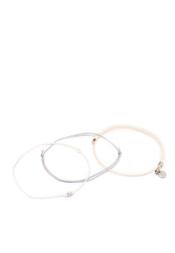 ASLLY white Grey Sky│Simple Gray White Bracelet D66BDAC63C6CE2GS_1