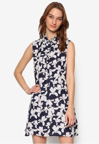 印花無袖襯衫直esprit 工作筒連身裙, 服飾, 洋裝