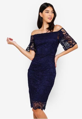 3d0100ffebd Buy Paper Dolls Navy Bardot Dress Online | ZALORA Malaysia