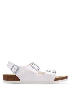 4a06ac42d84 Birkenstock white Milano Birko-Flor Sandals D32E0SHC9D2CA8GS 1