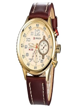 Curren Men's Leather Strap Wrist Watch 8179