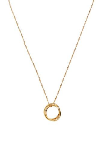 Mango gold Ring Pendant Necklace A8047ACE62FAACGS_1