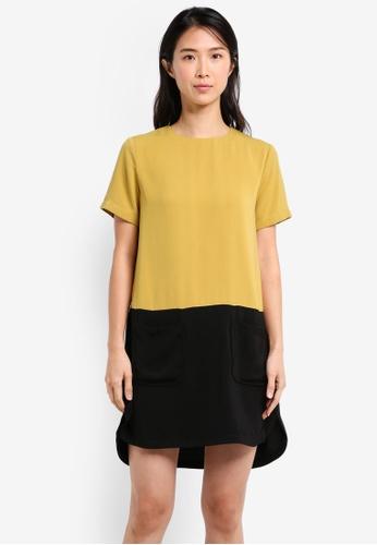 ZALORA multi Colorblock Patch Pocket Dress 546ECAAC3C4758GS_1