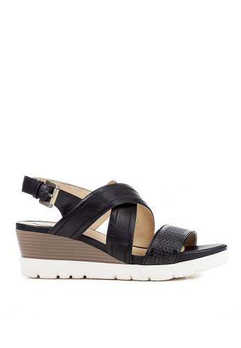 Geox black Marykarmen Plus Sandal 9294DSH16AAAAFGS_1