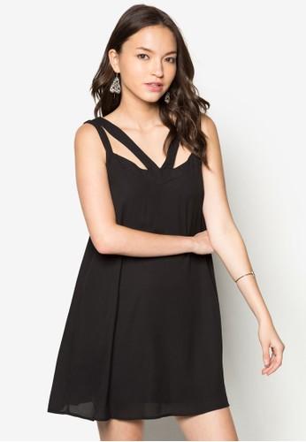 鏤空zalora退貨寬版連身裙, 服飾, 洋裝
