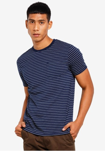 Brave Soul navy Crew Neck T-Shirt CAEB0AA387317AGS_1