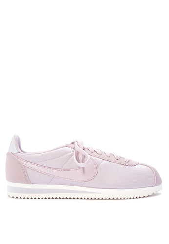 Nike grey and pink Women's Nike Classic Cortez Nylon Shoes NI126SH0STTLMY_1
