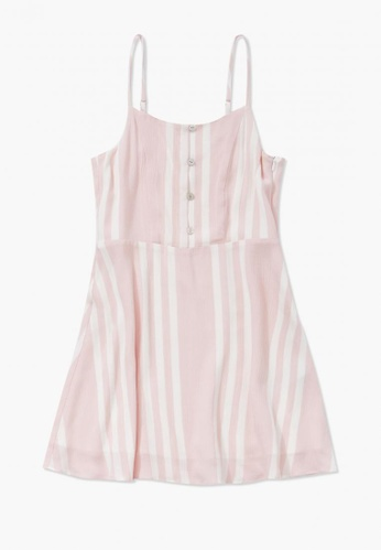 FOREVER 21 pink Striped Cami Dress 85D71KA81EE356GS_1