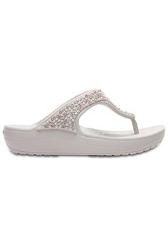 dd0a975f04f9b1 Crocs white Women s Crocs Sloane Embellished Flip Pwh CR883SH0RMTEMY 1