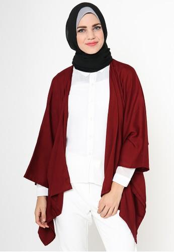 TITAN'S WARDROBE red Ariel Kimono Outer TI407AA19NJCID_1