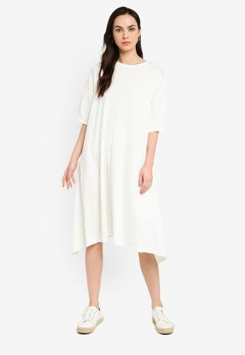 niko and ... white Ribbed Knit Dress 1042FAABDEBB08GS_1