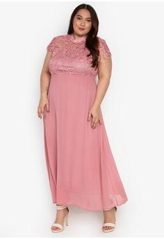 a348e2428cedb Get Laud Plus pink Plus Size Brielle Maxi Dress 47E5CAACFEBC53GS 1