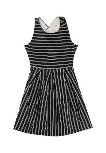 FOX Kids & Baby black Cross Back Dress 394F8KA42BA9F4GS_1