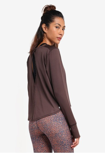Cotton On Body brown Asana Long Sleeve Top 65BF7AA9BCFFBDGS_1