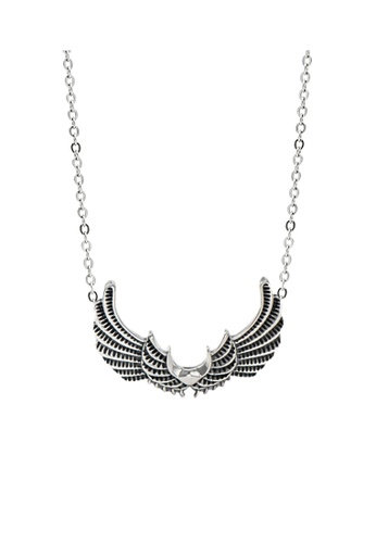 LYCKA silver LPP9018 Vintage Wings Necklace 6CCE5ACFA6849AGS_1