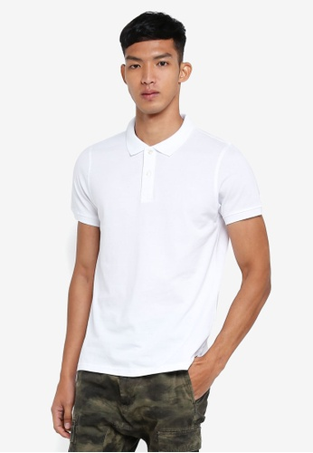 OVS white Basic Polo Shirt 8C533AA6B7067EGS_1