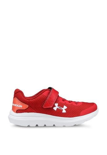 Under Armour red Ps Surge 2 Ac Shoes A77FFKSC3340B0GS_1