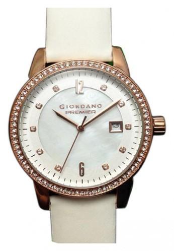 Giordano - Jam Tangan Wanita - Putih Rosegold - Strap Leather - P249-04