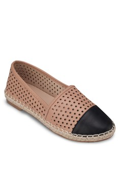 Perforated Slip On Espadrilles