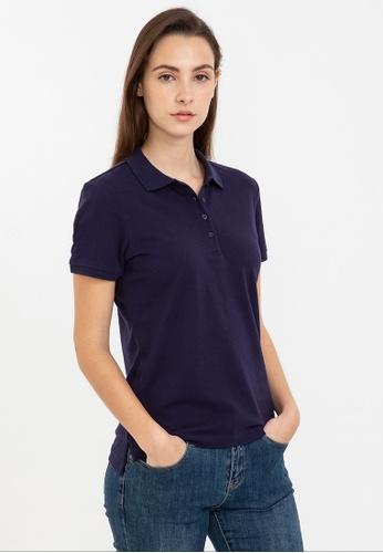 Bossini navy Short Sleeve Solid Polo Shirt D2BA3AA2E09FDFGS_1
