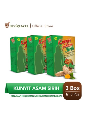 Sido Muncul green Sido Muncul Minuman Kunyit Asam Sirih 3x5's - Mengurangi Bau Badan 51A40ES74FFE73GS_1