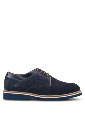 Acuto blue Leather Derby Shoes 1BB2DSH2FC5B2AGS_1