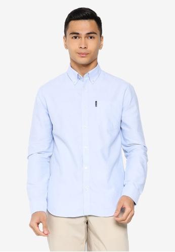 Ben Sherman blue Signature Gots Organic Oxford Shirt 35D8DAA518E2A2GS_1