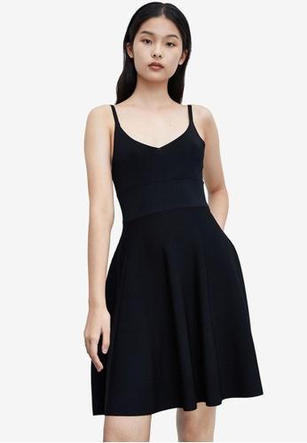 Urban Revivo black Skater Dress 2470CAA9240F59GS_1