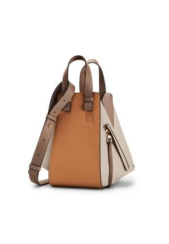 LOEWE brown Loewe Small Hammock Shoulder Bag in Warm Desert/Mink FA41EAC8EB2E6EGS_1