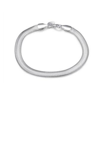 Glamorousky silver Fashion Geometric Snake Bracelet 402A5ACF4DE158GS_1