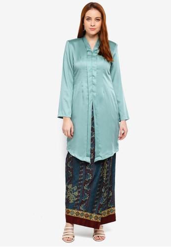 Butik Sireh Pinang green Yumna Long Modern Kebaya A0AC5AAEF10F00GS_1