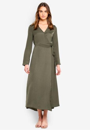 Cotton On green Woven Satin Maxi Dress DED79AAFEAD039GS_1
