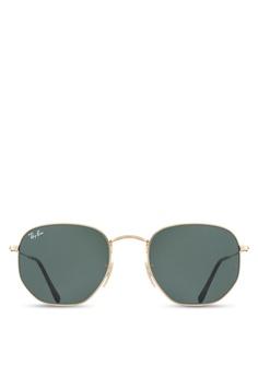 a309fe2dffd5 Ray-Ban gold Hexagonal Flat Lenses RB3548N Sunglasses RA896GL30UTPMY_1