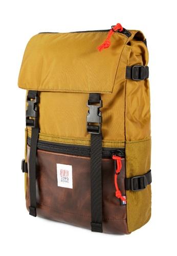 Topo Designs brown Topo Designs Rover Pack Leather 19121AC10D594FGS_1