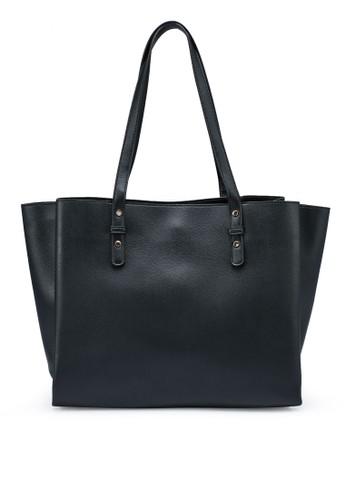 PIMKIE black Faux Leather Tote Bag E8189AC665A419GS_1