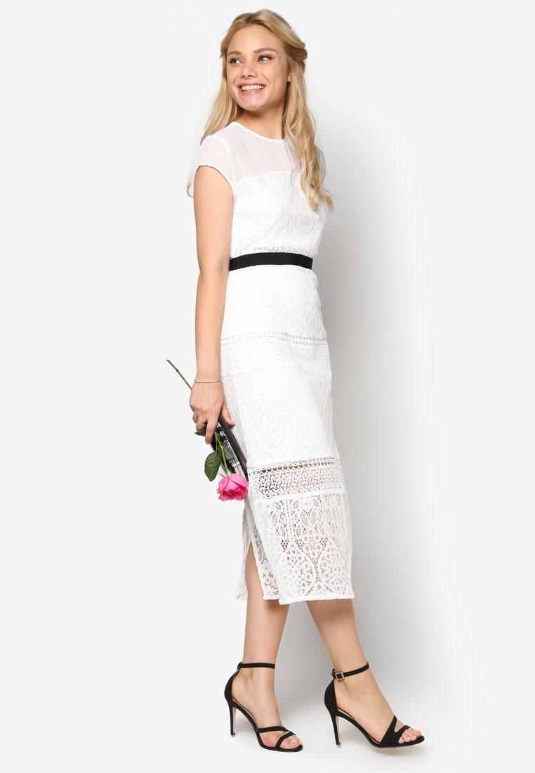 Bridesmaid Mixed Lace Dress