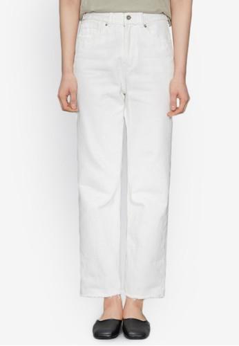 裁剪褲腳白色牛仔褲, 服飾,esprit holdings limited 牛仔褲