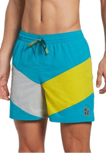 "Nike blue Nike Swim Men's Multi Logo Icon 5"" Volley Short FC745USF510D0FGS_1"