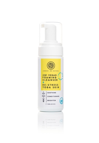 The Active Living Co white 2-in-1 Vegan Foaming Cleanser+De-Stress Yoga Skin 24ABABE35CA9FCGS_1