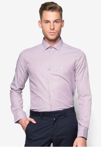 條紋長袖襯衫, 服飾,esprit outlet 香港 襯衫