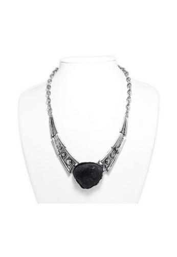 KLF KLF Regulus Necklace Silver/Black KL134AC0RPK0MY_1