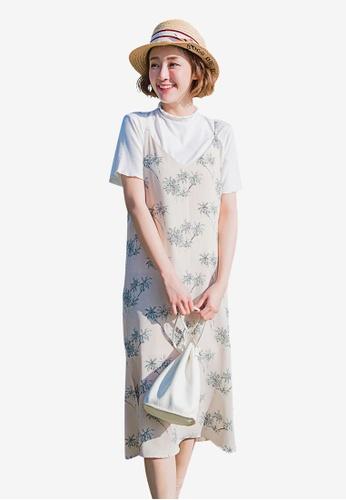 Tokichoi multi and beige Palm Tree Slip Dress CC8BCAAD660B3CGS_1