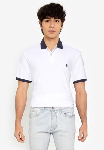 Springfield white Contrast Pique Polo Shirt 2C495AAC259078GS_1