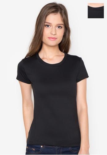 Organic black Round Neck 2 in 1 Shirt OR165AA0J285PH_1