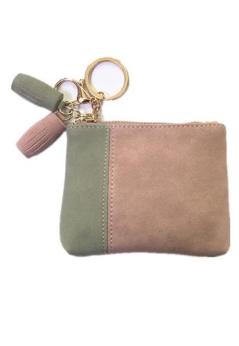 Treasure by B & D pink Women PU Zipper Small Coin Purse Wallet TR022AC0JYT2PH_1