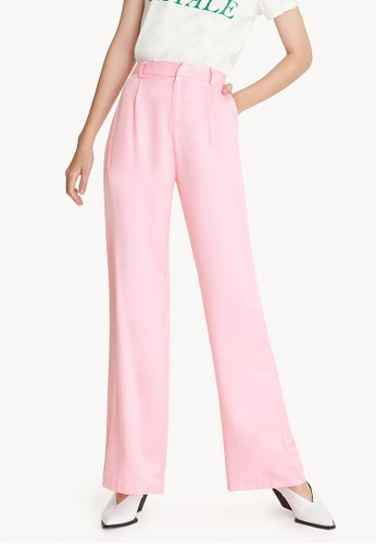 Pomelo pink High Waisted Wide Leg Pants - Pink 4C92FAA36601EDGS_1